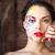 портрет · девушки · зеленые · глаза · женщину - Сток-фото © dashapetrenko