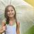 küçük · kız · lekeli · şemsiye · yürüyüş · geçit · düşmek - stok fotoğraf © dashapetrenko