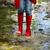 kind · regen · laarzen · springen - stockfoto © dashapetrenko