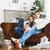 jonge · romantische · paar · vergadering · sofa · haard - stockfoto © dashapetrenko