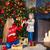 child girl with mother decorating christmas tree indoors stock photo © dashapetrenko
