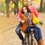 kerékpáros · lovaglás · bicikli · gyönyörű · ősz · erdő - stock fotó © dashapetrenko