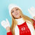 menina · inverno · roupa · suéter · cachecol - foto stock © dashapetrenko