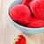 Strawberry ice cream in blue bowl stock photo © dashapetrenko