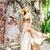 beleza · loiro · menina · bege · vestir · retrato - foto stock © dashapetrenko