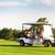 golf · araba · golf · sahası · yaz · çim · gün · batımı - stok fotoğraf © dashapetrenko