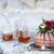 dos · gafas · whisky · rocas · vidrio · fondo - foto stock © dashapetrenko
