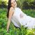 красивой · беременная · женщина · цветок · весны · ребенка · любви - Сток-фото © dashapetrenko