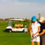 sportive couple playing golf on a golf course stock photo © dashapetrenko