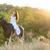 lovas · ló · legelő · nő · nyár · farmer - stock fotó © dashapetrenko