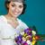 hermosa · novia · colorido · ramo · de · la · boda · manos · mujer - foto stock © dashapetrenko
