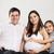 счастливым · красивой · беременная · женщина · расслабляющая · диван · семьи - Сток-фото © dashapetrenko