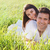 young happy couple in love in spring day stock photo © dashapetrenko