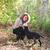 czarny · labrador · retriever · szczeniak · jesienią · lasu · baby - zdjęcia stock © dashapetrenko