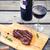 plaat · groenten · frietjes · biefstuk · achtergrond · vlees - stockfoto © dashapetrenko