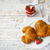 dois · saboroso · croissants · prato · morango · congestionamento - foto stock © dashapetrenko