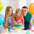 family celebrating birthday stock photo © dashapetrenko