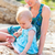moeder · strand · zomer · vrouw - stockfoto © dashapetrenko