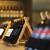 wine bottles on a wooden shelf stock photo © dashapetrenko