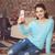 young beautiful woman sitting with smart phone stock photo © dashapetrenko