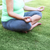 beautiful pregnant woman meditaiting in summer park stock photo © dashapetrenko