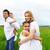 heureux · jeunes · famille · extérieur · deux · enfants - photo stock © dashapetrenko