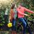 couple with bicycle in autumn park stock photo © dashapetrenko