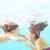 kadın · yüzme · sualtı · havuz · gülen · genç - stok fotoğraf © dashapetrenko