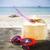 синий · цвета · морем · Солнцезащитные · очки · песок · Focus - Сток-фото © dashapetrenko