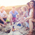 glimlachend · vrienden · vergadering · zomer · strand · vriendschap - stockfoto © dashapetrenko