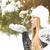 снега · портрет · ладонями - Сток-фото © dashapetrenko