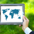 verde · mapa · do · mundo · homem · de · negócios · mão · mundo · educação - foto stock © dashapetrenko