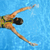 young woman swimming in a blue water of swimming pool stock photo © dashapetrenko