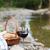 witte · rode · wijn · kaas · brood · houten · tafel · voedsel - stockfoto © dashapetrenko