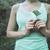 женщину · лист · рук · природы - Сток-фото © dashapetrenko