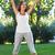 fiatal · nő · testmozgás · park · csinos · napos · idő · fitnessz - stock fotó © dashapetrenko