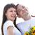 pár · friss · házasok · férfi · tart · virágok · kéz - stock fotó © dashapetrenko