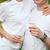 noiva · noivo · potável · champanhe · casamento · flores - foto stock © dashapetrenko