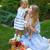 enfant · pique-nique · parc · heureux · séance · herbe · verte - photo stock © dashapetrenko