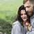 affectueux · couple · prairie · heureux · séance · vert - photo stock © dashapetrenko