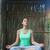 młoda · kobieta · jogi · wieczór · odkryty · dziewczyna · trawy - zdjęcia stock © dashapetrenko