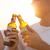 vier · handen · flessen · bier · boom · hand - stockfoto © dashapetrenko