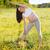 sağlıklı · hamile · kadın · yoga · doğa · açık · havada · bahar - stok fotoğraf © dashapetrenko