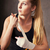 kobieta · bokser · biały · pasek · nadgarstek - zdjęcia stock © dashapetrenko