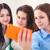 tienermeisjes · naar · mobiele · telefoon · school · technologie · onderwijs - stockfoto © dashapetrenko