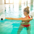 blond young woman doing aqua aerobics stock photo © dashapetrenko