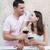 couple enjoying a glasses of red wine stock photo © dashapetrenko