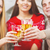 genç · savurgan · adam · kadın · şampanya · Noel - stok fotoğraf © dashapetrenko
