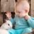 lány · csodaország · fehér · nyúl · portré · mosolyog - stock fotó © dashapetrenko