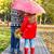 feliz · irmão · irmã · em · pé · amarelo · imagem - foto stock © dashapetrenko